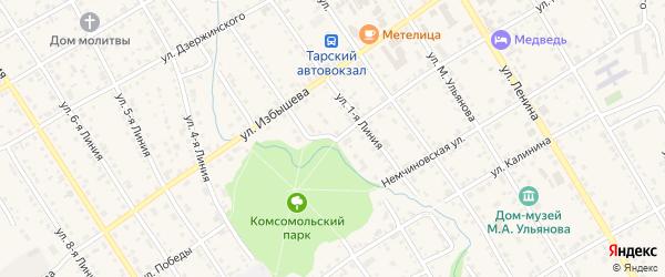 Улица Победы на карте Тары с номерами домов