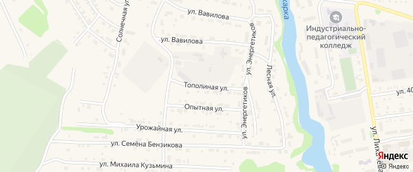 Тополиная улица на карте Тары с номерами домов