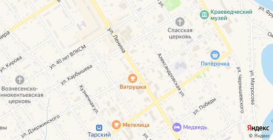 Улица Ленина в Таре с номерами домов на карте. Спутник и схема онлайн