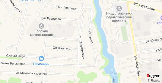 Улица Энергетиков в Таре с номерами домов на карте. Спутник и схема онлайн