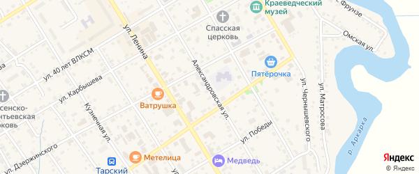 Александровская улица на карте Тары с номерами домов