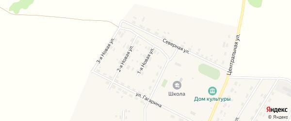 1-я Новая улица на карте поселка Индейки Омской области с номерами домов