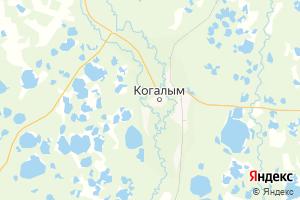 Карта г. Когалым Ханты-Мансийский автономный округ-Югра