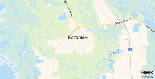 Карта Когалыма с улицами и домами подробная. Показать со спутника номера домов онлайн