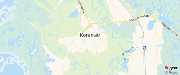 Карта Когалыма с районами, улицами и номерами домов