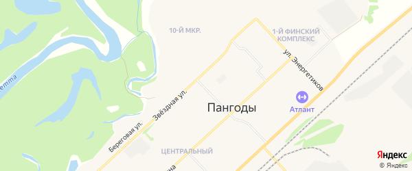Территория КСЭИГ Автомобилист-93 на карте поселка Пангоды Ямало-ненецкого автономного округа с номерами домов