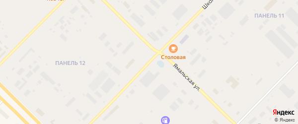 Школьная улица на карте Муравленко с номерами домов
