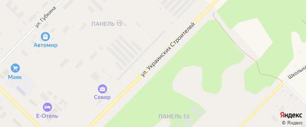 Улица Украинских строителей на карте Муравленко с номерами домов