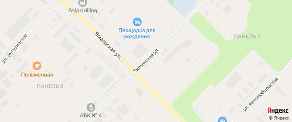 Тюменская улица на карте Муравленко с номерами домов
