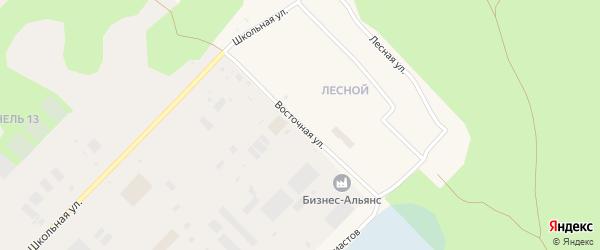Восточная улица на карте Муравленко с номерами домов