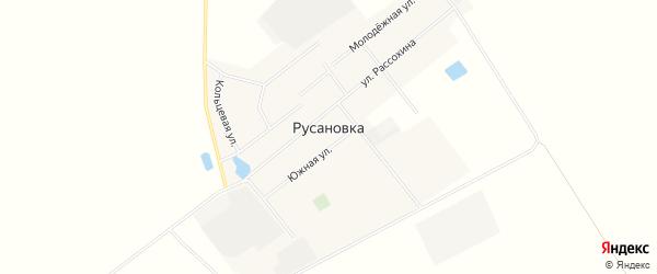 Карта деревни Русановки в Омской области с улицами и номерами домов