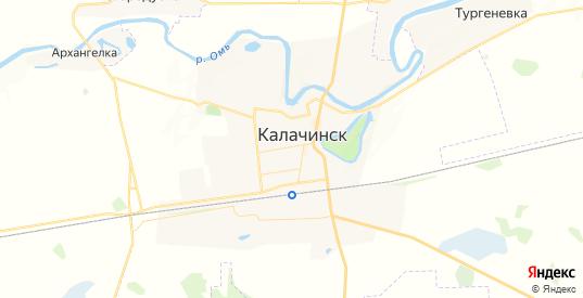 Карта Калачинска с улицами и домами подробная. Показать со спутника номера домов онлайн
