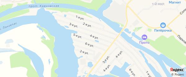 Карта садового некоммерческого товарищества СОТА Дорожника города Лангепаса в Ханты-Мансийском автономном округе с улицами и номерами домов