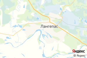 Карта г. Лангепас Ханты-Мансийский автономный округ-Югра