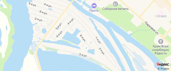 Карта садового некоммерческого товарищества СОТА Рябинушки города Лангепаса в Ханты-Мансийском автономном округе с улицами и номерами домов