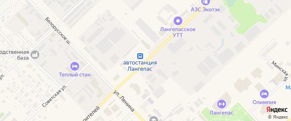 Улица Первостроителей на карте Лангепаса с номерами домов