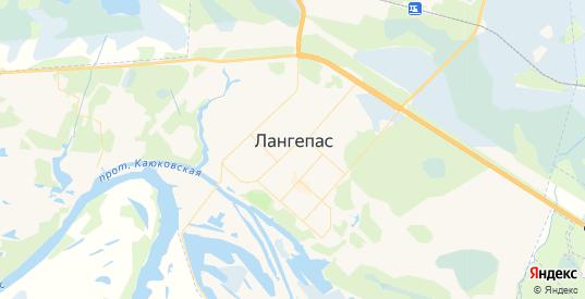 Карта Лангепаса с улицами и домами подробная. Показать со спутника номера домов онлайн