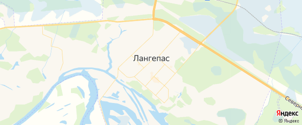 Карта Лангепаса с районами, улицами и номерами домов: Лангепас на карте России