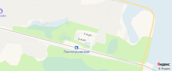 Садовое товарищество СОТ Железнодорожник на карте Лангепаса с номерами домов