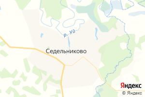 Карта с. Седельниково Омская область