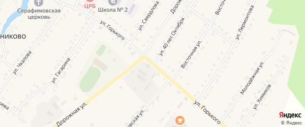 Улица Горького на карте села Седельниково Омской области с номерами домов