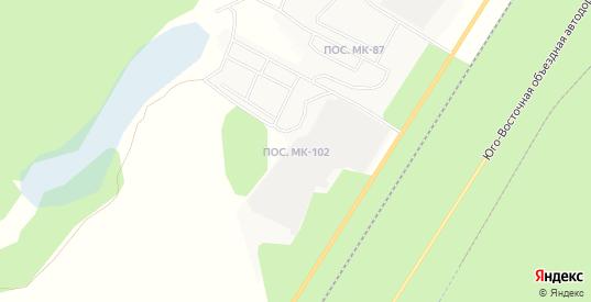 Карта поселка МК-102 в Ноябрьске с улицами, домами и почтовыми отделениями со спутника онлайн