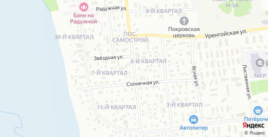 Багульная улица в Ноябрьске с номерами домов на карте. Спутник и схема онлайн