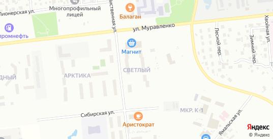 Микрорайон П-7А в Ноябрьске с номерами домов на карте. Спутник и схема онлайн
