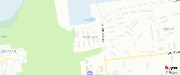 Микрорайон Н-2 на карте Ноябрьска с номерами домов