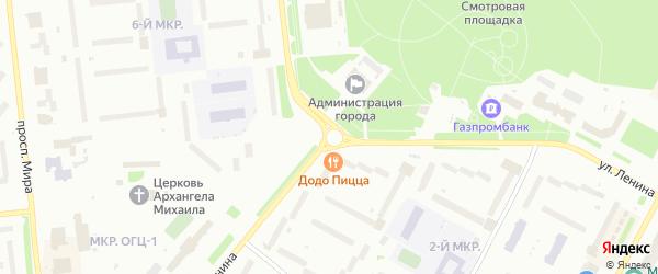 1-й ряд на карте территории ГК Ханто-1 с номерами домов