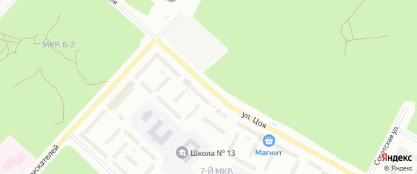 Улица Цоя на карте Ноябрьска с номерами домов