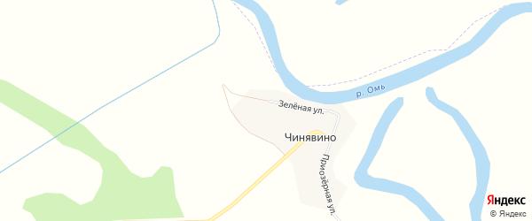 Карта деревни Чинявино в Новосибирской области с улицами и номерами домов