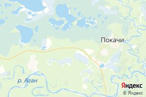 Карта г. Покачи Ханты-Мансийский автономный округ-Югра