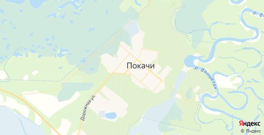 Карта Покачи с улицами и домами подробная. Показать со спутника номера домов онлайн