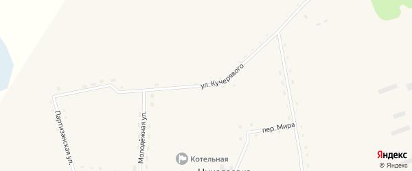 Улица Кучерявого на карте села Николаевки Новосибирской области с номерами домов