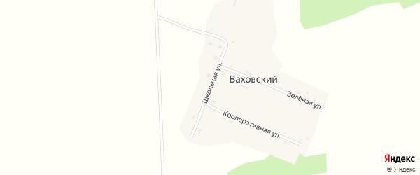 Школьная улица на карте Ваховского поселка Новосибирской области с номерами домов
