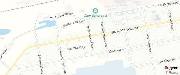 Ульяновский переулок на карте Татарска с номерами домов