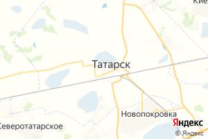 Карта г. Татарск Новосибирская область
