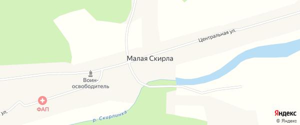 Горская улица на карте деревни Малой Скирлы Новосибирской области с номерами домов