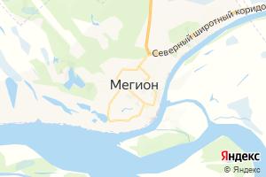 Карта г. Мегион Ханты-Мансийский автономный округ-Югра