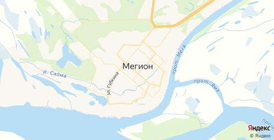 Карта Мегиона с улицами и домами подробная. Показать со спутника номера домов онлайн