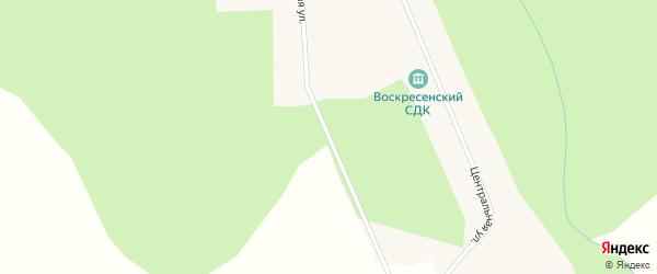 Школьная улица на карте деревни Воскресенки Новосибирской области с номерами домов