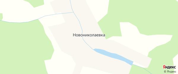 Лесная улица на карте деревни Новониколаевки Новосибирской области с номерами домов