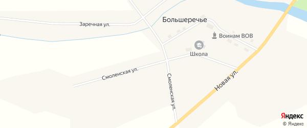 Смоленская улица на карте села Большеречья Новосибирской области с номерами домов