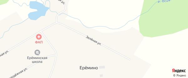 Заречная улица на карте деревни Еремино Новосибирской области с номерами домов