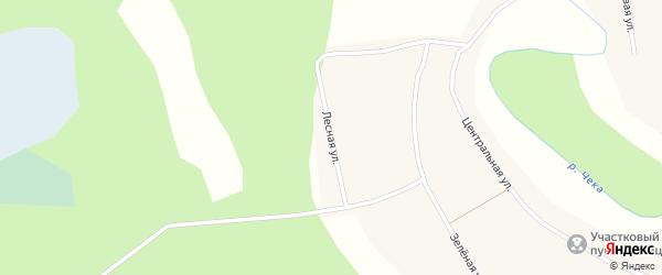Лесная улица на карте села Новоложниково Новосибирской области с номерами домов