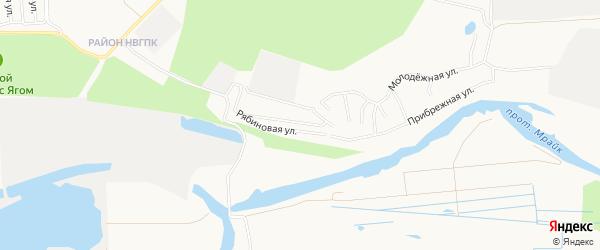 ГСК Проектировщик-1 на карте Нижневартовска с номерами домов