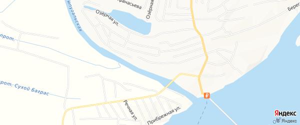 Садовое товарищество ДНТ Тампонажник-1 на карте Нижневартовска с номерами домов