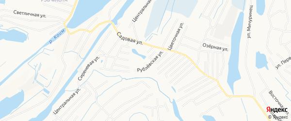 Садовое товарищество СОНТ Черногорец на карте Нижневартовска с номерами домов