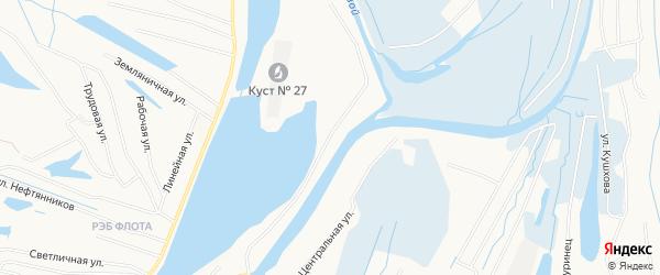 Садовое товарищество СОНТ Озерный на карте Нижневартовска с номерами домов